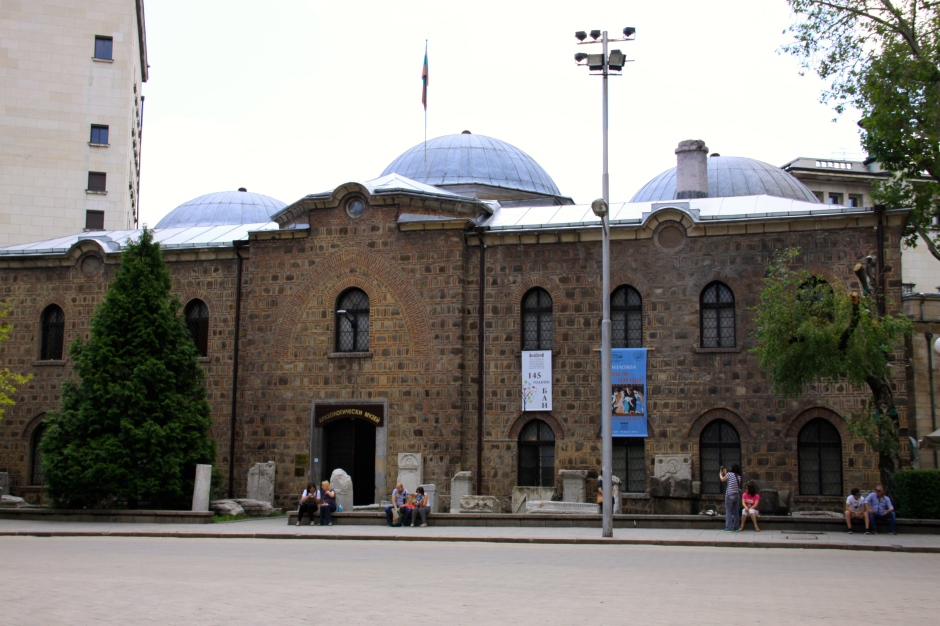 The museum - with ancient stone pieces on display outside