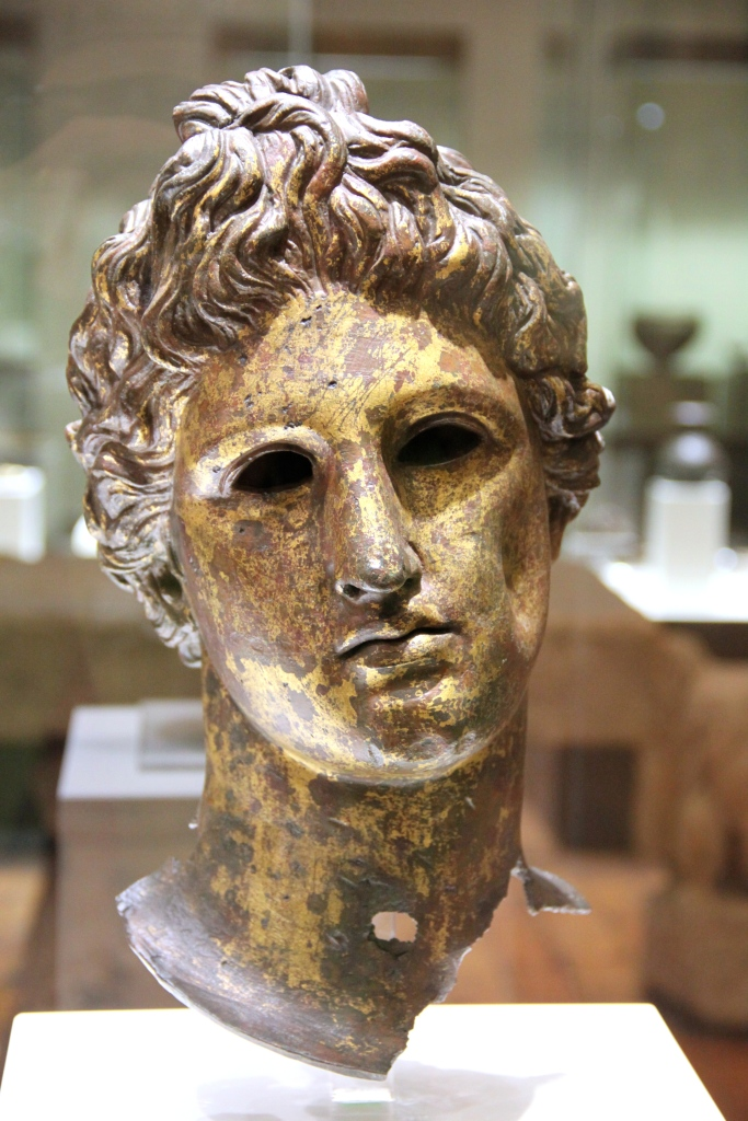 Bronze head from a statue of Apollo (2nd-3rd century)