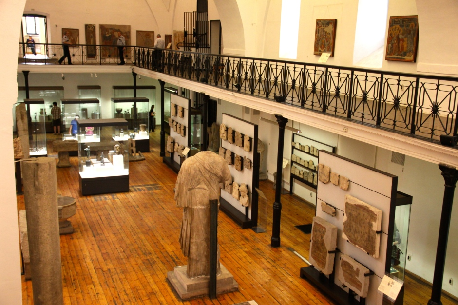 Part of the interior of the museum