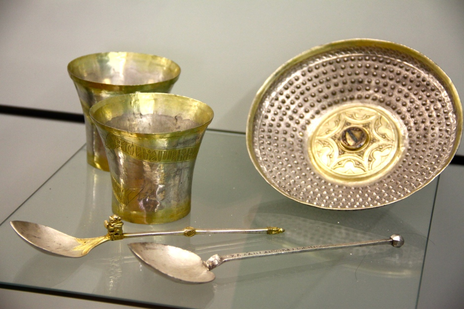Silver vessels with gold inlays (13th - 14th century)
