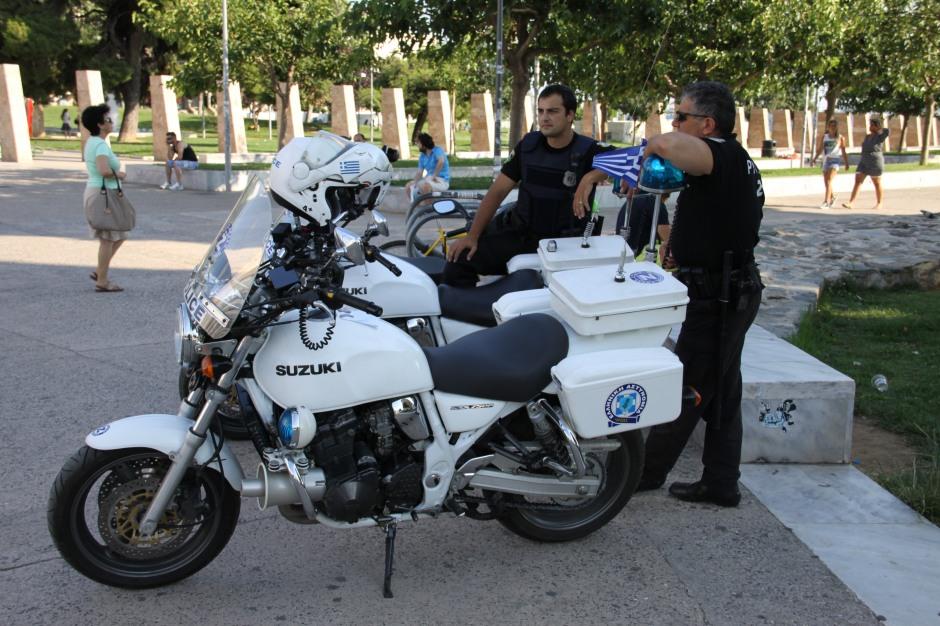 Suzuki GSX750 police bikes