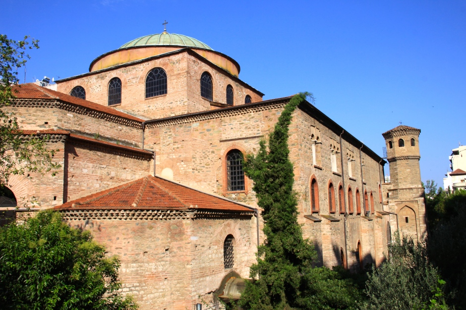 The Hagia Sofia - was converted to a mosque in the 1500's (note the addition of a minaret in one corner)