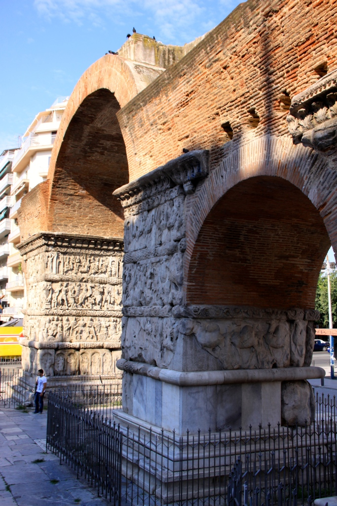 Galerius Arch - the guy standing underneath the arch gives a sense of scale