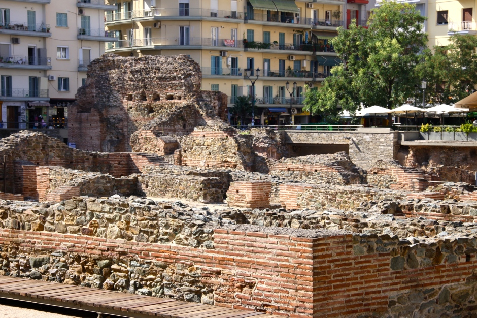 The ruins of the Roman palace occupy a square in the centre of the city