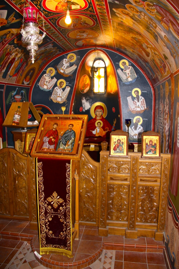 A small chapel inside the Varlaam Monastery