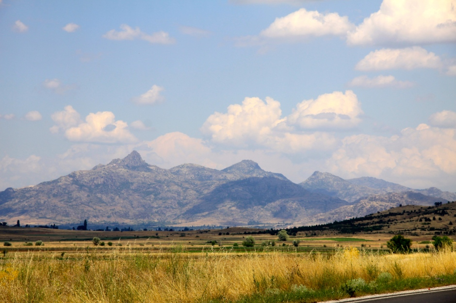 Mountain views on the drive to Skopje