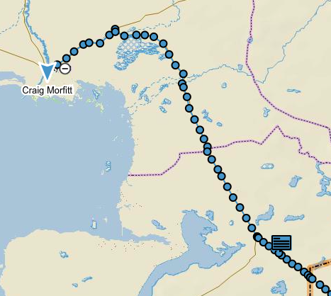 GPS track of route from Kazakh border to Atyrau