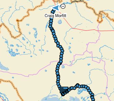 My track north from Atyrau