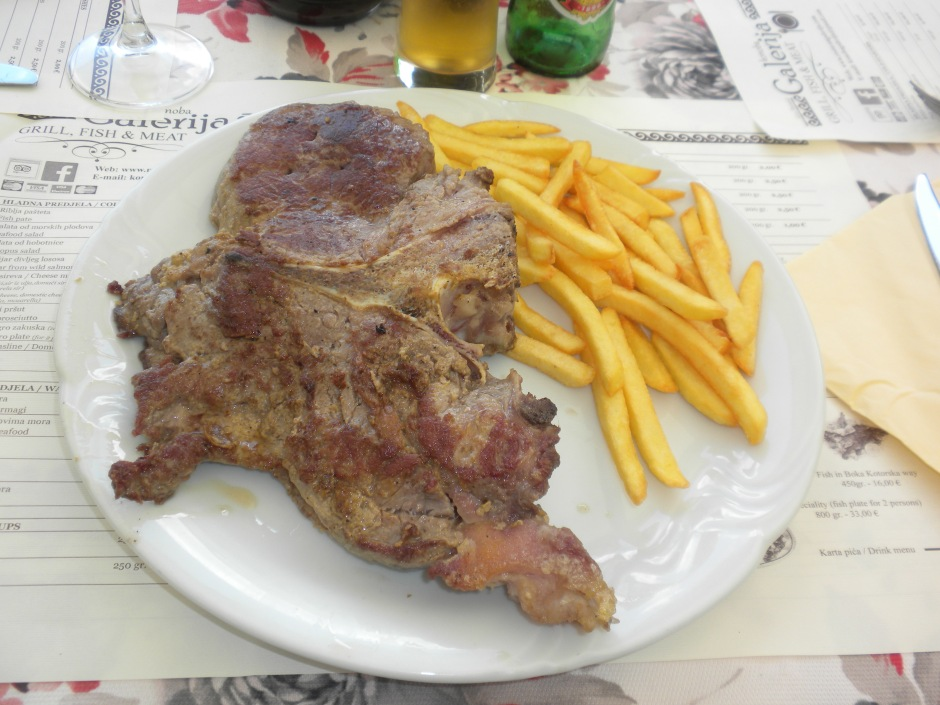 Supersize T-bone steak for lunch