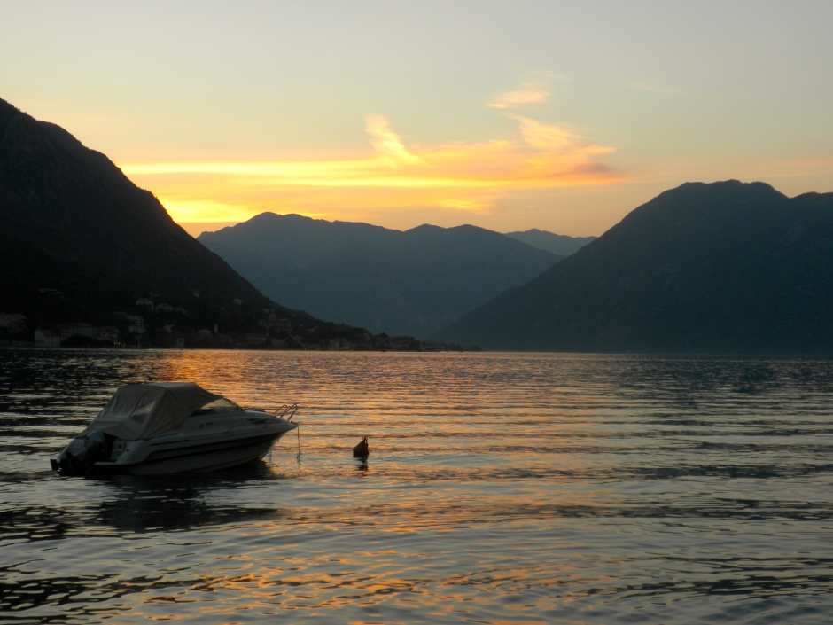 Sunset over the Bay of Kotor
