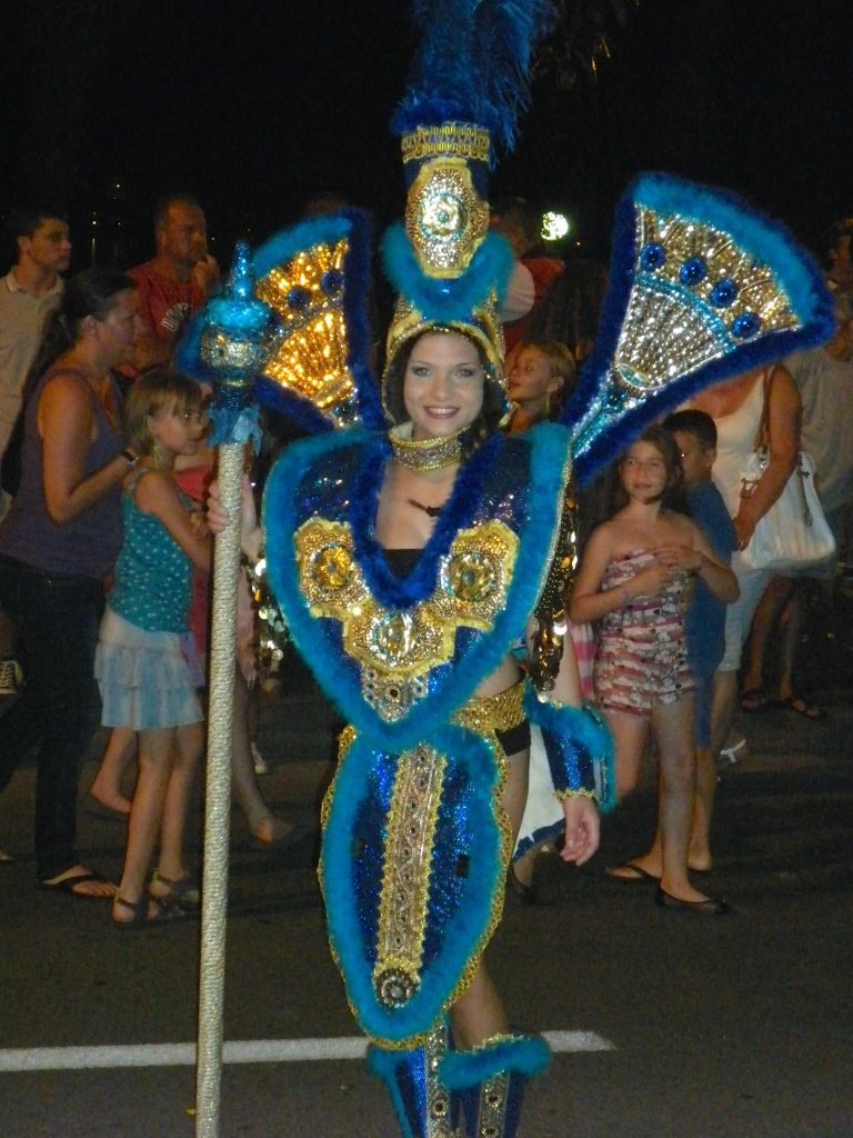 This lady was part of the carnival group