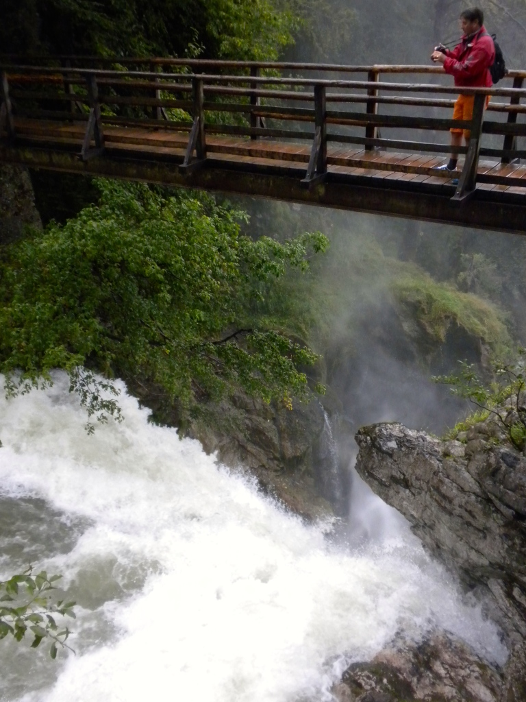 The river drops off at Sum Waterfall with a walkway directly above it