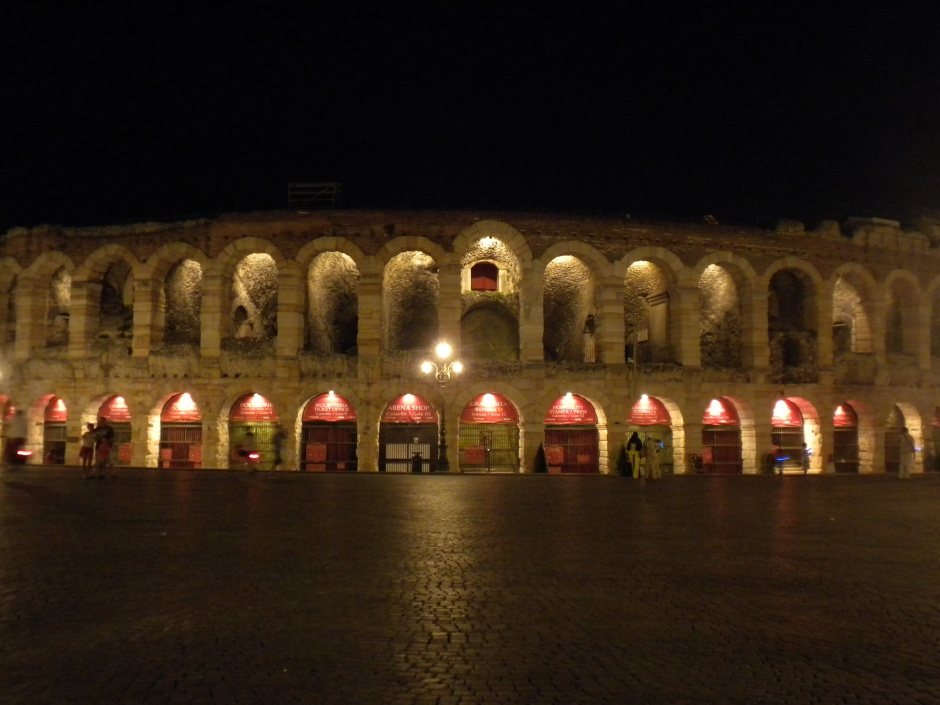 Arena at night