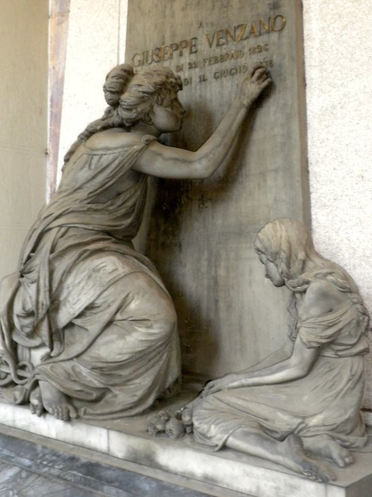 Guiseppe Venzano Tomb. Wife and daughter left behind to mourn?