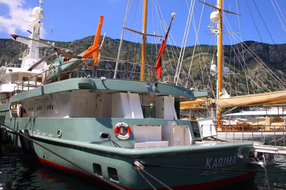 Bermuda registered super yacht Karima