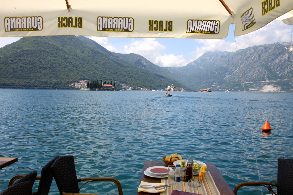 Soup, salad and an awesome view for lunch