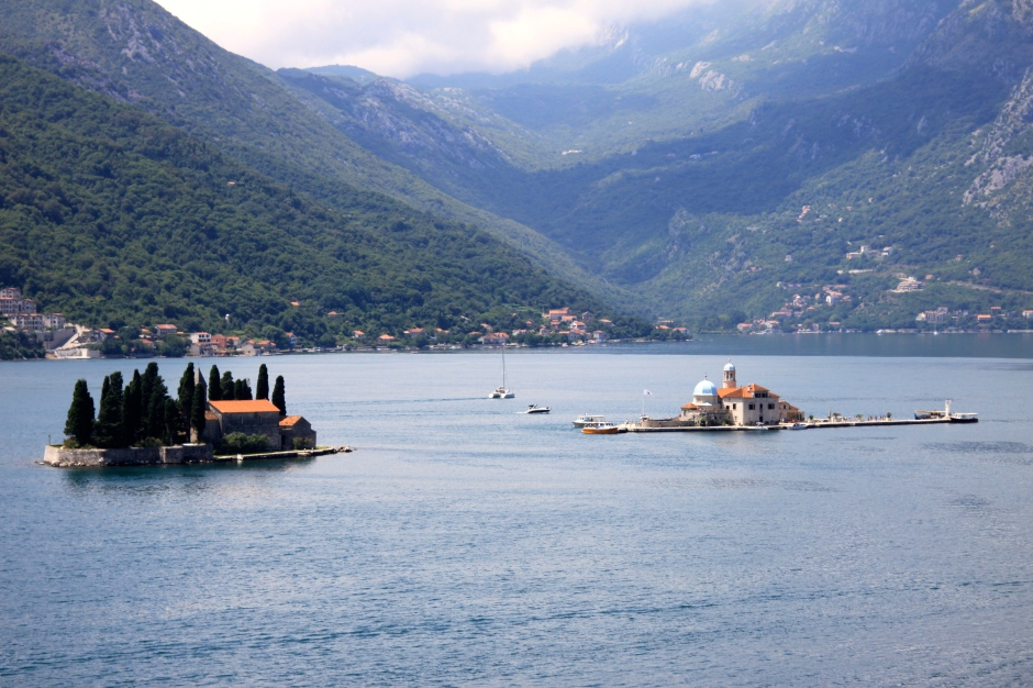 The two islands in the bay off Perast.