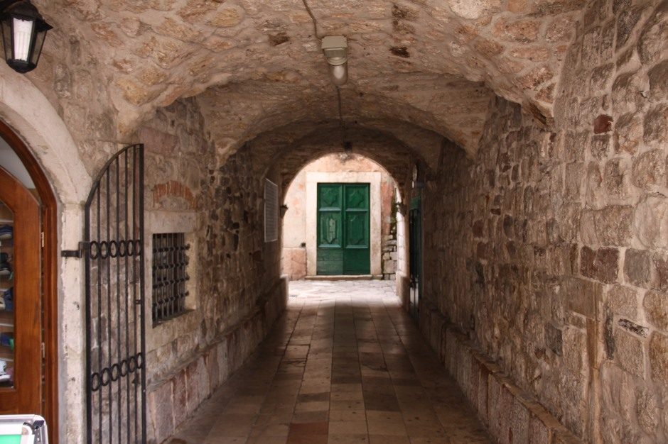 There are old tunnels to walk through