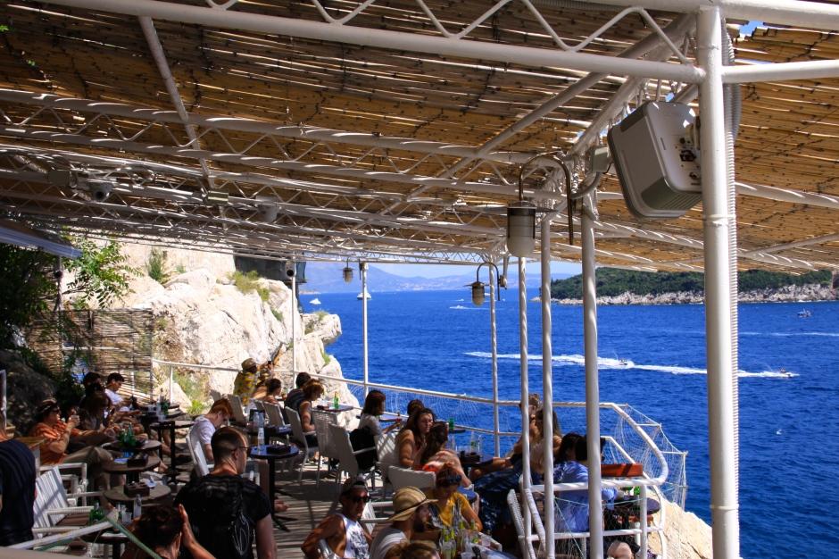 Bar overlooking the ocean