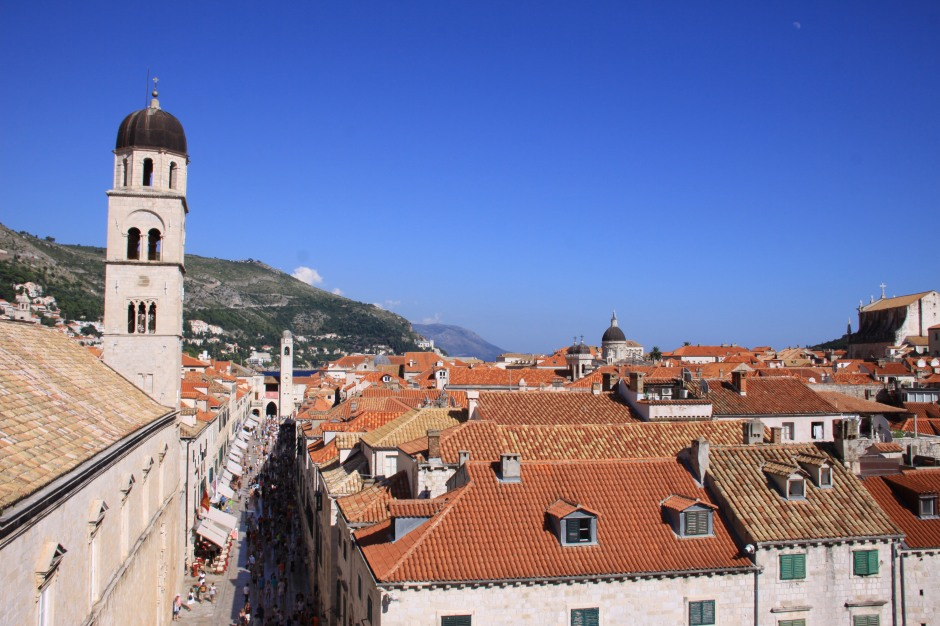 Looking over the town from the walls