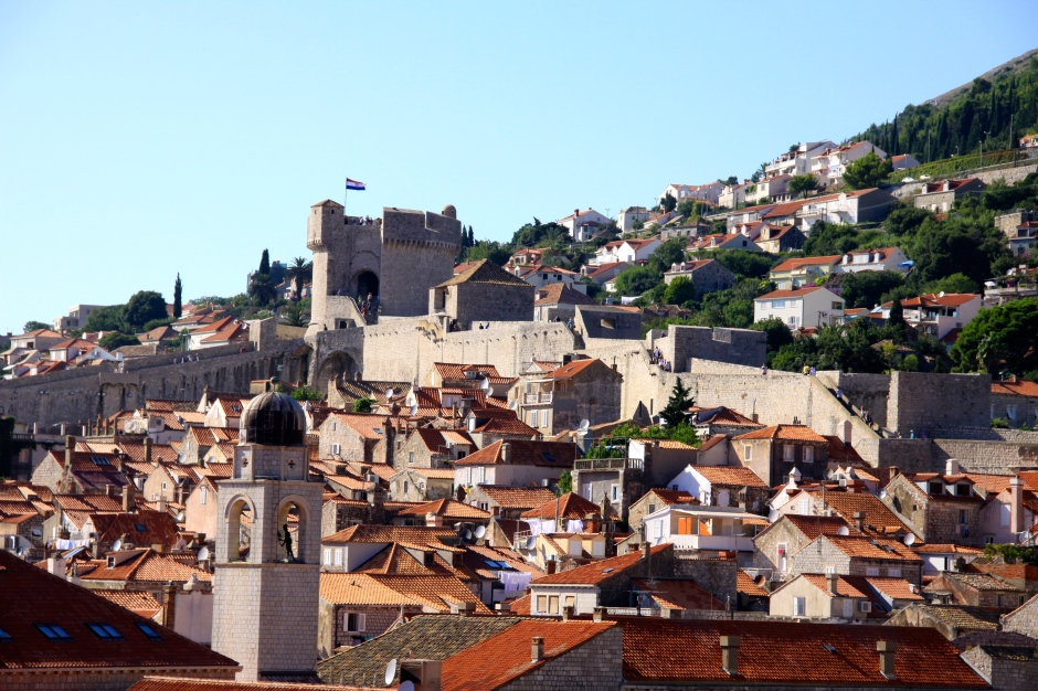 City walls encircling the old town/city