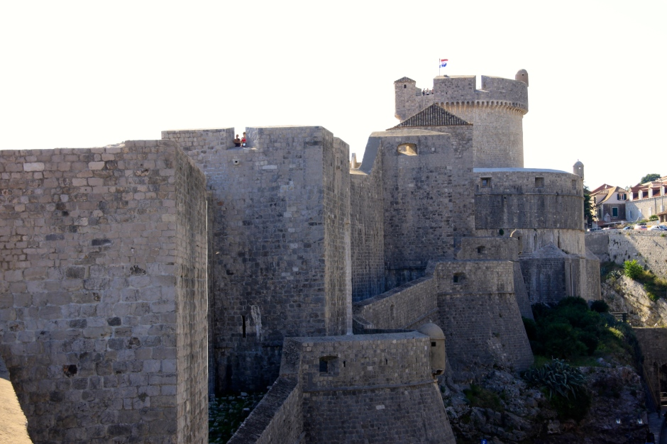 The exterior of the city walls