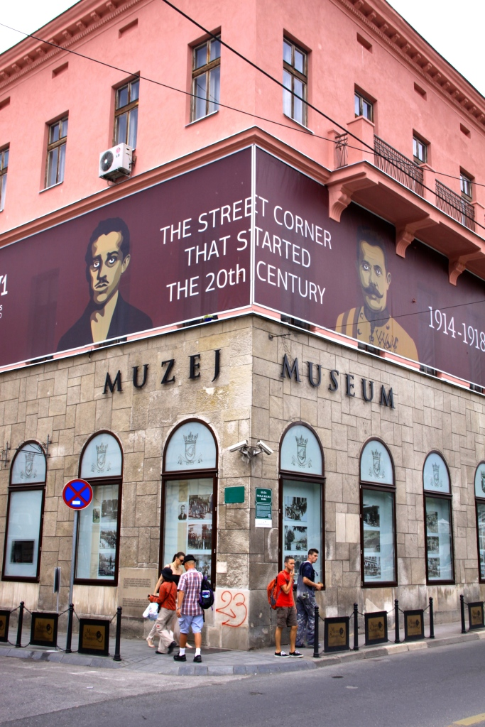 The Sarajevo Assassination Museum - on the corner opposite the bridge