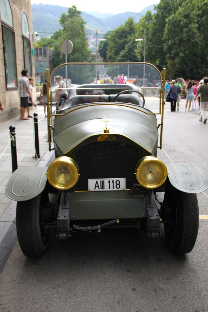 Replica (I assume) of the car that was carrying Franz Ferdinand when he was murdered (photographed yesterday when it was dry)