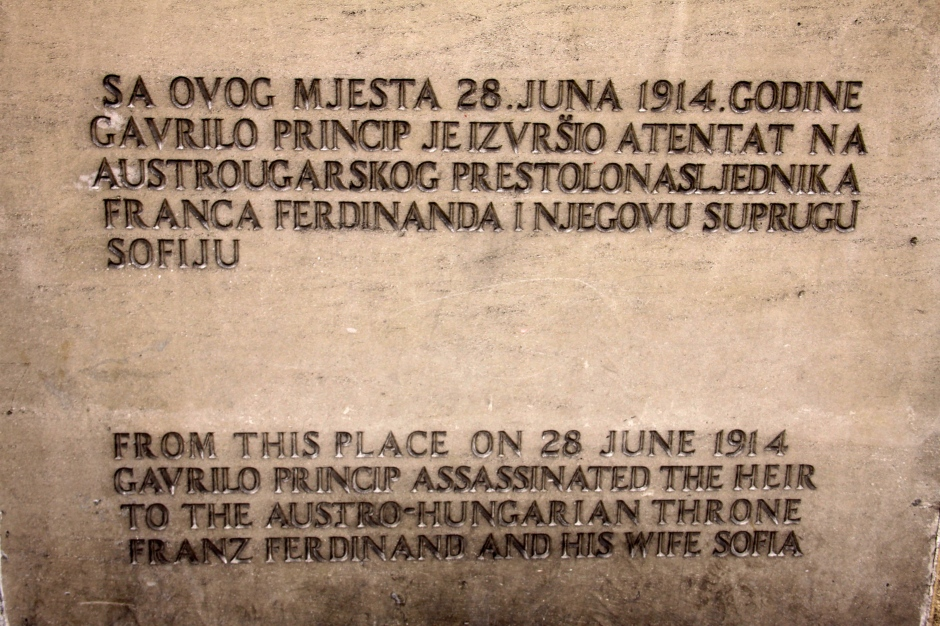 Sign on the wall of the Assassination Museum