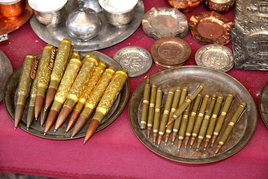 Pens made from spent ammunition cases