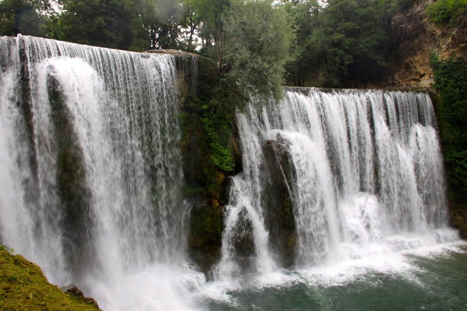 Plitva Waterfall in Jajce, Bosnia