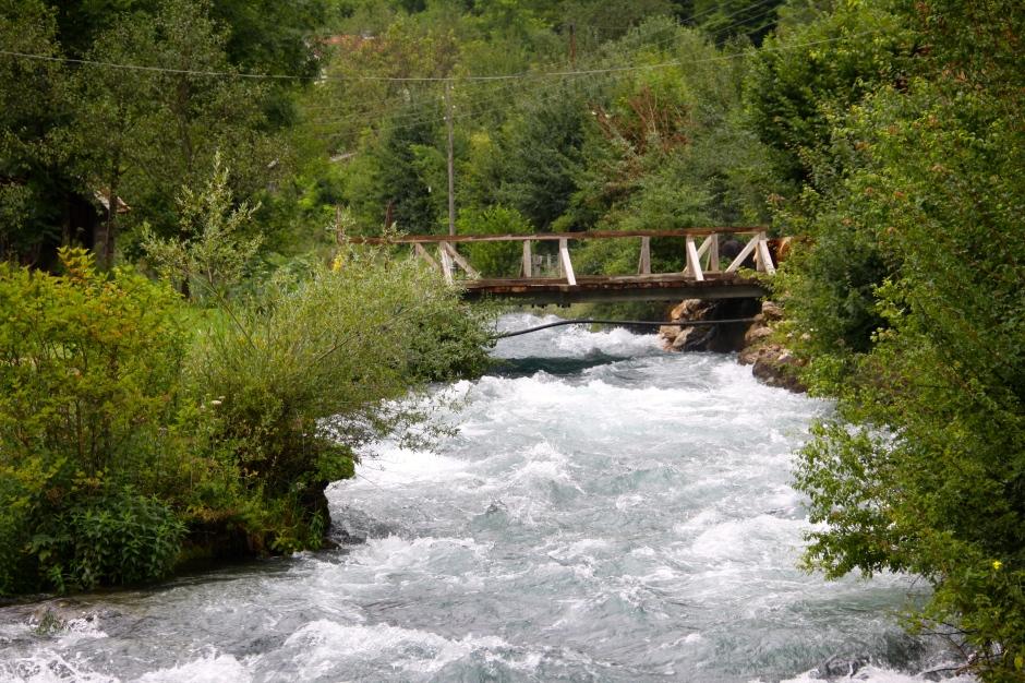 Swollen River Plitva near to its source