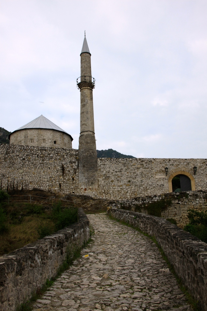 The bridge accessing the fortress. Note the 'pencil' minaret that is a common design in this region.