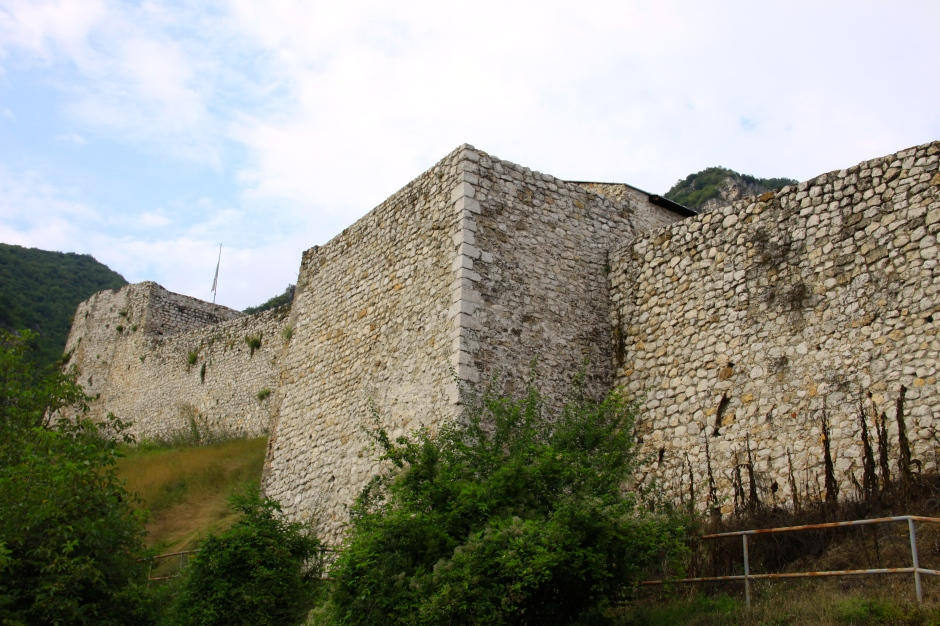 The outer walls of the fortress