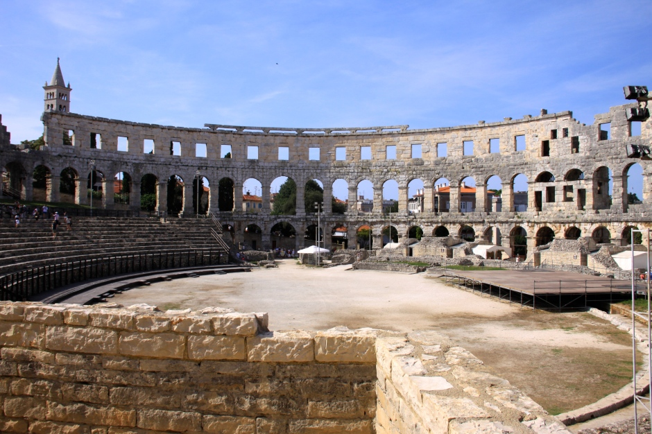A view of the arena inside the amphitheatre
