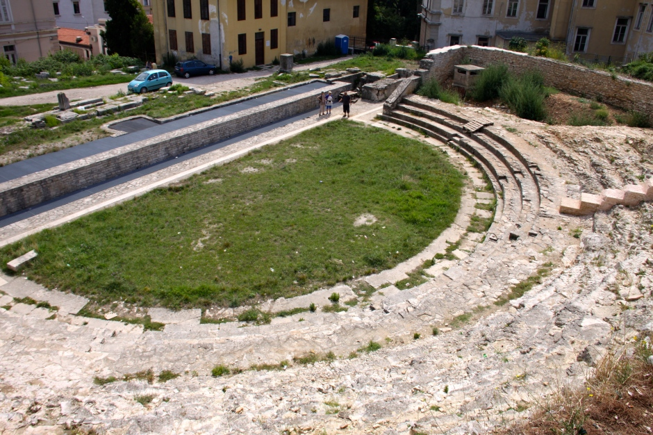 The Roman theatre from above