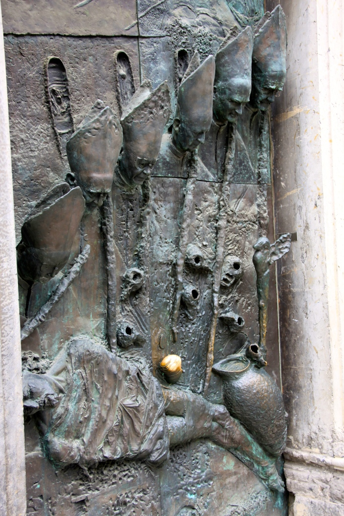 Entrance door to the Church of St. Nicholas Cathedral (1701-1706)