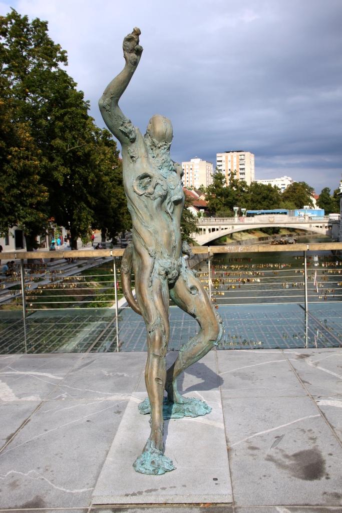 Sculpture on Butchers' Bridge