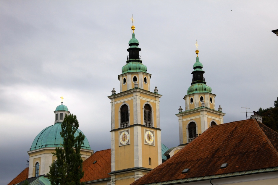 The towers and domed roof of the Church of St. Nicholas Cathedral