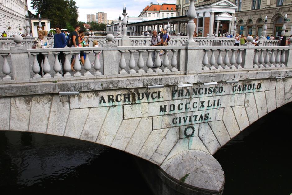 The centre bridge of the 'Three Bridges'