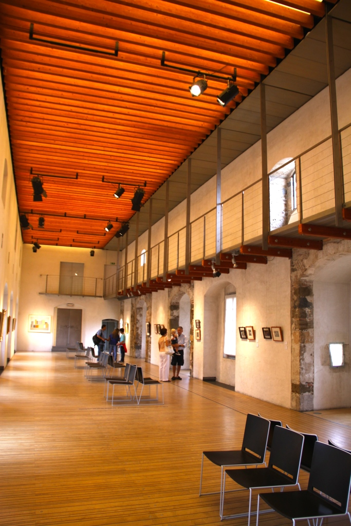 An art gallery inside the castle