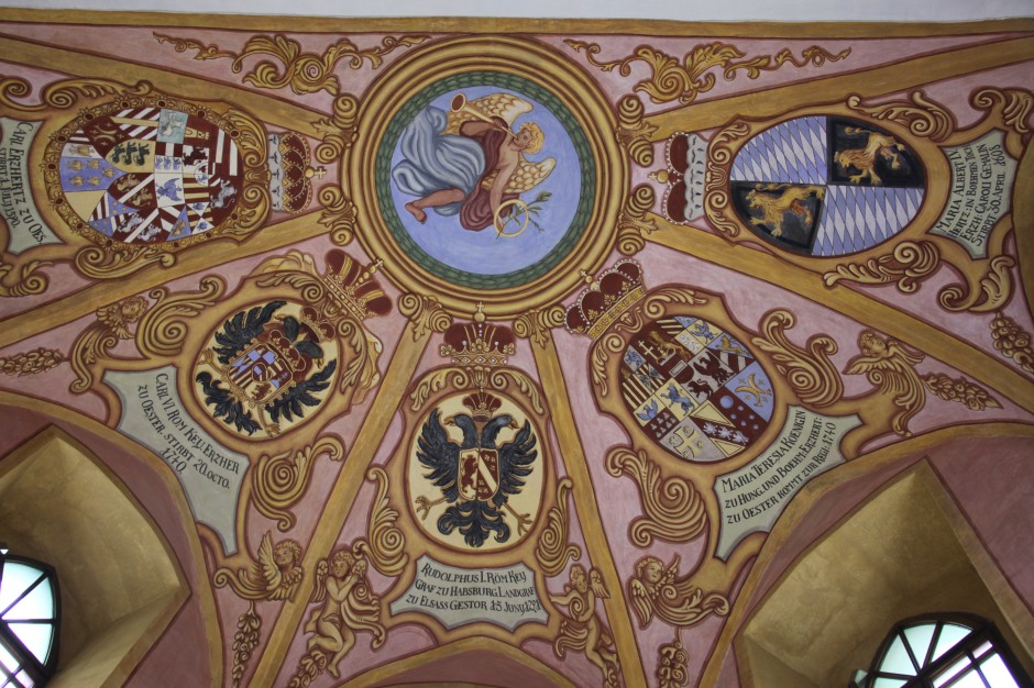 Part of the ceiling of the chapel