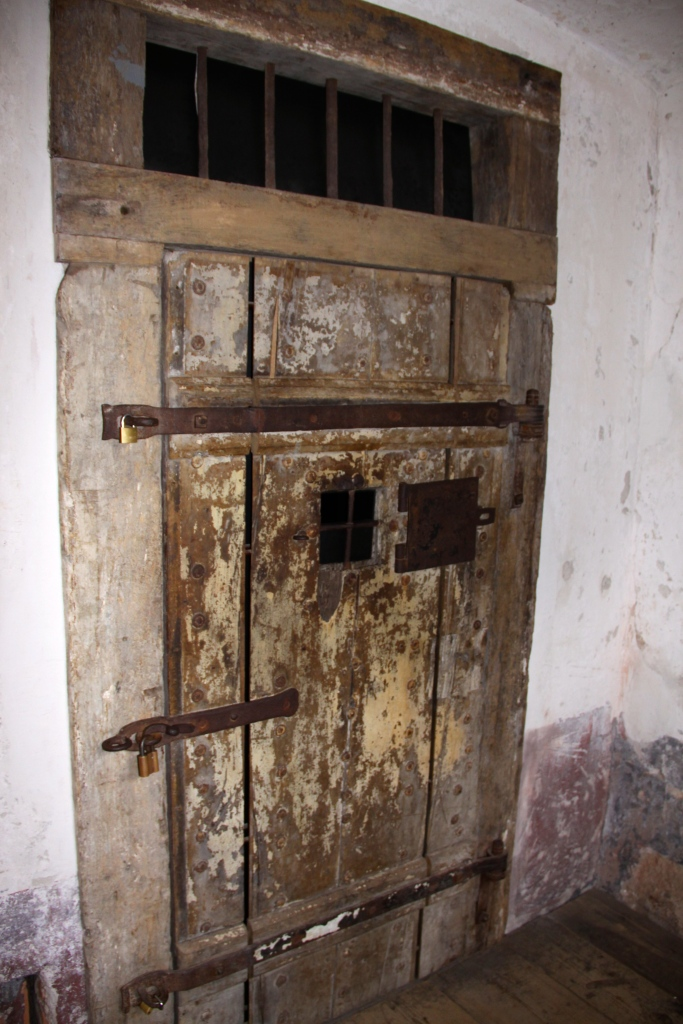 One of the prison cells in the penitentiary section of the castle