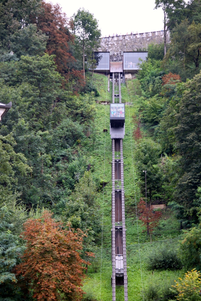 The funicular that takes you up to the castle
