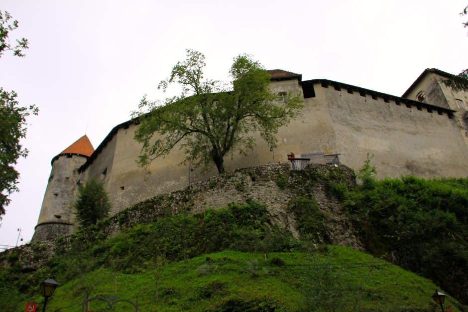 Exterior walls of Bled Castle
