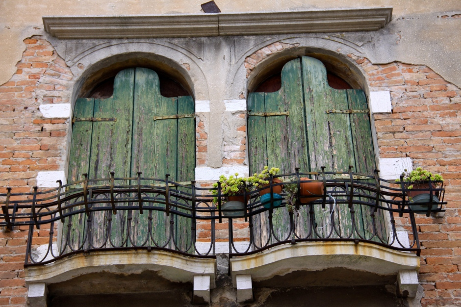 Shuttered balconies