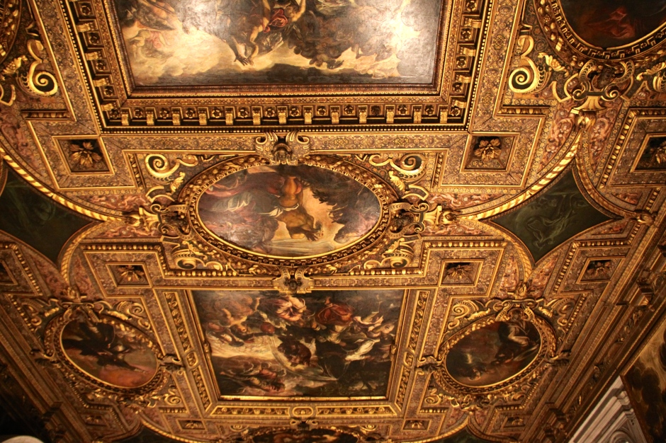One of the ceilings in the Scuola Grande