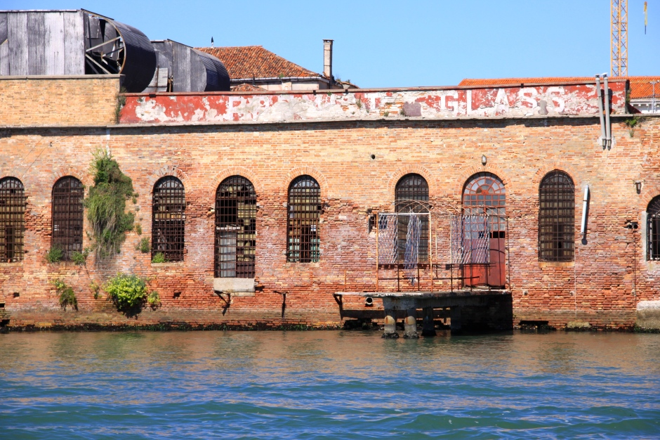 An old glass company building on Murano