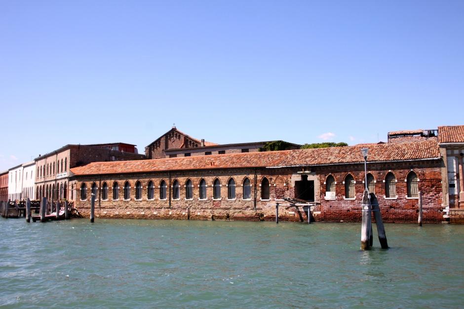 Old waterside buildings on Murano