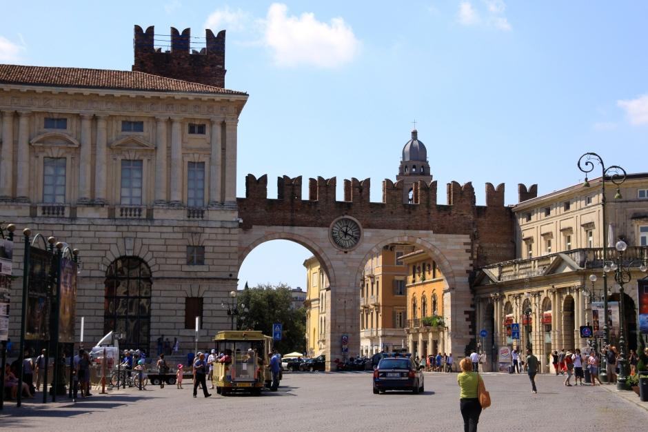 Portoni della Bra - gate at the end of Piazza Bra